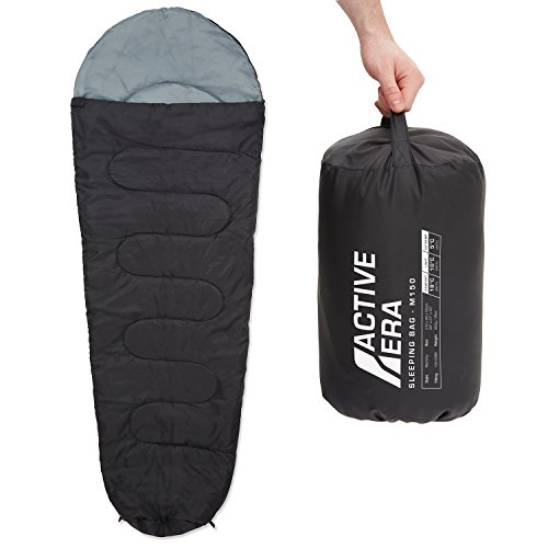 Active Era™ 150 Premium Mumienschlafsack, leicht – Schlafsack für Outdoor Camping im Sommer oder Indoor