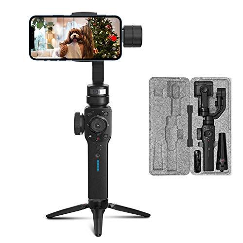 ZHIYUN Smooth 4 [Offiziell] 3-Achsen Handheld Stabilisator Gimbal für Smartphone (mit Stativ)- Schwarz