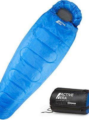 Active Era™ Professional 300 Mumienschlafsack – Premium Schlafsack für Outdoor Camping, 3-4 Jahreszeiten