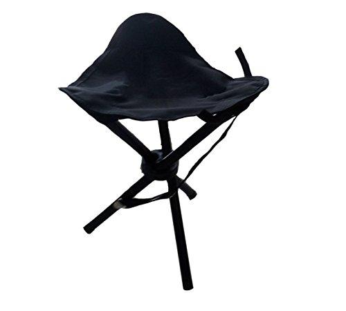 Dreibeinhocker, 3-Bein-Hocker Camping-Stuhl Dreibein-Hocker 40cm Sitzhöhe handliche 550g leicht, faltbar