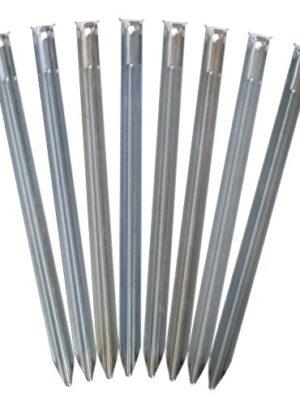 outdoorer Sandheringe, 30cm – Sandfortress 8 Stück 1,2 mm Dicke Stahlheringe mit V-Profil inkl. Transporttasche