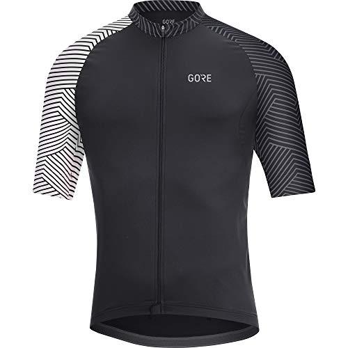 GORE Wear C5 Herren-Kurzarmtrikot, XL, Schwarz / Weiß