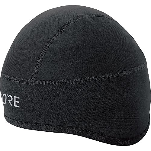 GORE Wear Winddichte Herren Fahrrad-Mütze, C3 WINDSTOPPER Kappe, Größe: 54-58, Farbe: Schwarz, 100398