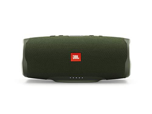 JBL Charge 4 Bluetooth-Lautsprecher in Grün – Wasserfeste, portable Boombox mit integrierter Powerbank – Mit nur einer Akku-Ladung bis zu 20 Stunden kabellos Musik streamen
