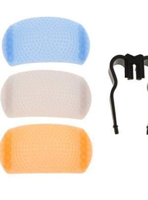 perfk Standard Blitzschuh Pop-up Flash Diffuser Soft mit Halter für DSLR Kamera